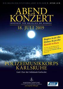Einladung zum Konzert am 18. Juli in der Majolika Karlsruhe